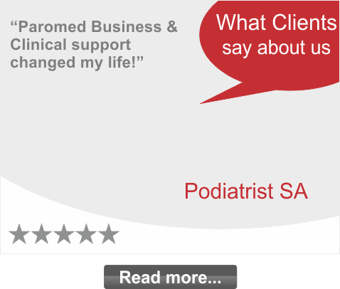 Paromed Business and Clinical support changed my life!